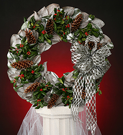 Frosted Magnolia Wreath