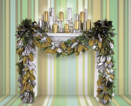 Gilded and Frosted Garland