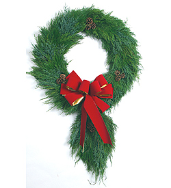 "Wreath with A Tail 36"" Long"